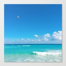 Parasailing in Cancun Canvas Print