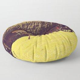 Slow happy life Floor Pillow
