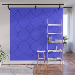 Ethno blocks, blue Wall Mural