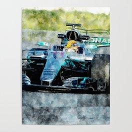 Lewis Hamilton 2017 Poster
