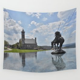 Chapel and Infinity Pool Wall Tapestry