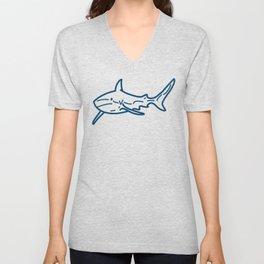Shark wireframe Unisex V-Neck