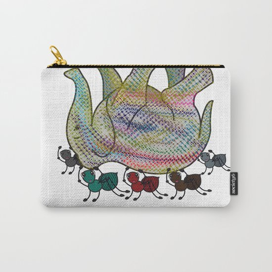 Elephant Vs Ant Carry-All Pouch
