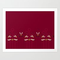 Catch the Snitch for Gryffindor Art Print