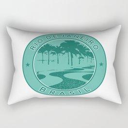 Rio de Janeiro, Brazil, Copacabana beach, green circle Rectangular Pillow