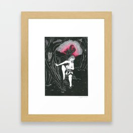 Communing with the Shadows Framed Art Print