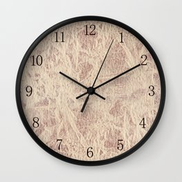 Retro sepia toned leather sheet textured Wall Clock