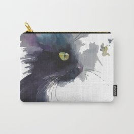 A cat profile Carry-All Pouch