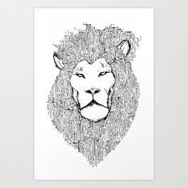 Lion 2.0 Art Print