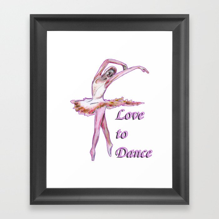 Love to Dance  Framed Art Print