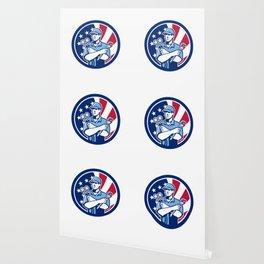 American Air-Con Serviceman USA Flag Icon Wallpaper
