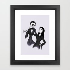 Jack & Sally Addams Framed Art Print