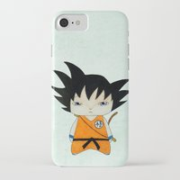 dbz iPhone & iPod Cases featuring A Boy - Goku by Christophe Chiozzi