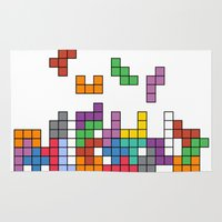 tetris Area & Throw Rugs featuring Tetris by Adayan