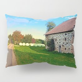 Traditional farmhouse scenery | landscape photography Pillow Sham