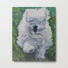 The Coton de Tuléar dog art from an original painting by L.A.Shepard Metal Print