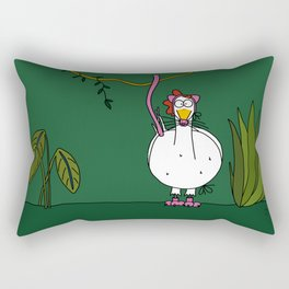 Eglantine la poule (the hen) dressed up as a pink panther Rectangular Pillow