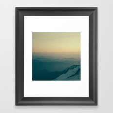 Overlooking Nisqually Framed Art Print