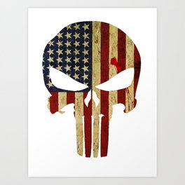 Blood America Skull Logo Art Print
