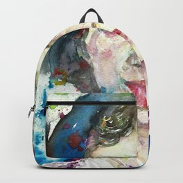 EMILY DICKINSON - watercolor portrait.3 Backpack
