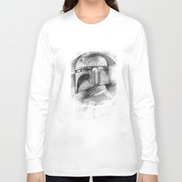 boba fett Long Sleeve T-shirts featuring Boba Fett by The Art of Joshua Davis