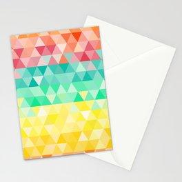Rainbow triangles Stationery Cards