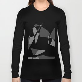 Windy Peaks - Abstract Black on White Long Sleeve T-shirt