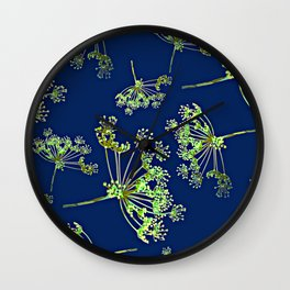 Herbs art - Flowering dill Wall Clock