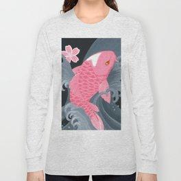 Love Koi Pastel Pink Long Sleeve T-shirt