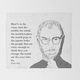 Steve Jobs - the crazy ones Throw Blanket