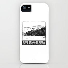 Pino sulla sponda del Lago Maggiore, Italy iPhone Case