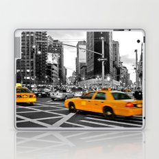 NYC Yellow Cabs Flat Iron Building Laptop & iPad Skin