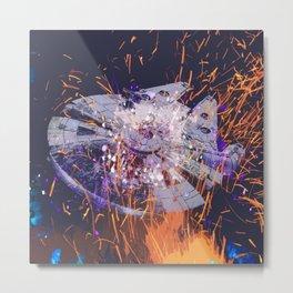Falcon Fire Metal Print
