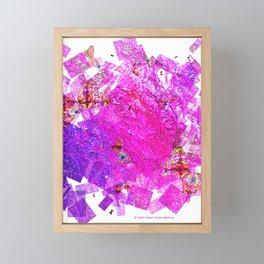 """Butterflies And Confetti"" Framed Mini Art Print"