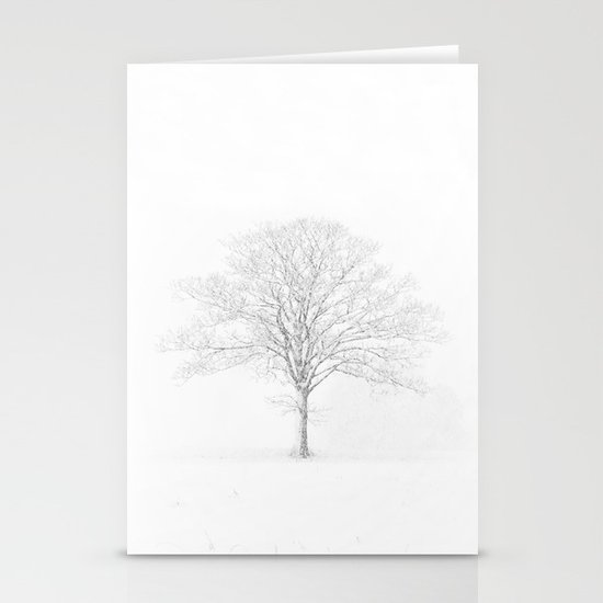 Tree in the Snow Stationery Cards