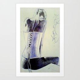 girl X Art Print