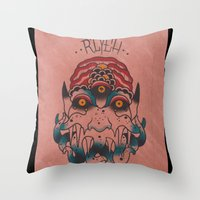 cthulhu Throw Pillows featuring Cthulhu by Zack Traum