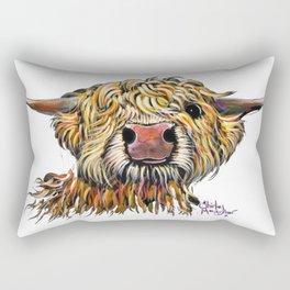 Scottish Highland Cow ' POPEYE 2 ' by Shirley MacArthur Rectangular Pillow