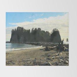 Driftwood on La Push Beach Throw Blanket