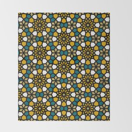 Persian Mosaic – Marigold Palette Throw Blanket