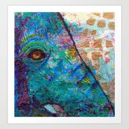 Peek-a-Blue Art Print