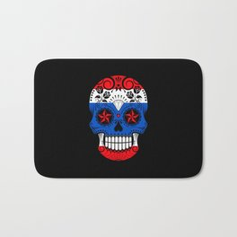 Sugar Skull with Roses and Flag of Thailand Bath Mat