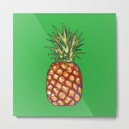 Pineapple, tropical, Hawaii Metal Print