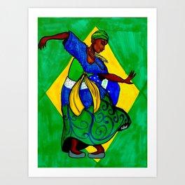Pátria Amada Brasil! Art Print