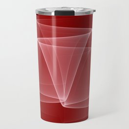 Abstract #4 (DarkRed/White) Travel Mug