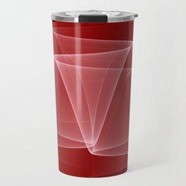 Abstract #4 (DarkRed/White) Travel Mug