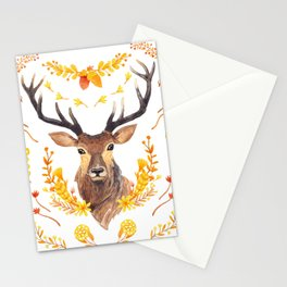 Autumn Deer Stationery Cards