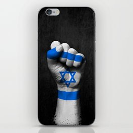 Israeli Flag on a Raised Clenched Fist iPhone Skin