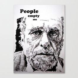 PEOPLE EMPTY ME Canvas Print