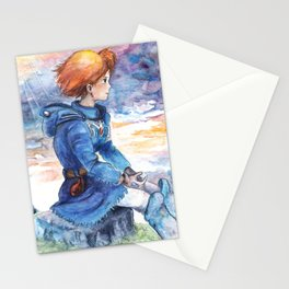 The cloudy Sky in the Valley Stationery Cards